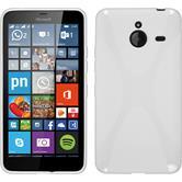 Silikon Hülle Lumia 640 XL X-Style weiß + 2 Schutzfolien