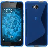 Silikon Hülle Lumia 650 S-Style blau Case