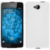 Silikon Hülle Lumia 650 S-Style weiß