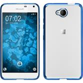 Silikon Hülle Lumia 650 Slim Fit blau Case