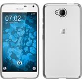 Silikon Hülle Lumia 650 Slim Fit silber