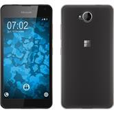 Silikon Hülle Lumia 650 Slimcase grau Case