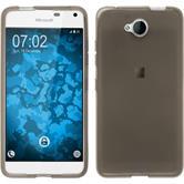 Silikon Hülle Lumia 650 transparent schwarz