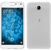 Silikon Hülle Lumia 650 transparent weiß