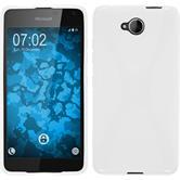 Silikon Hülle Lumia 650 X-Style weiß + 2 Schutzfolien