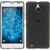 Silikon Hülle Lumia 850 transparent schwarz Case