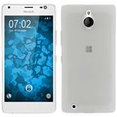 Silikon Hülle Lumia 850 transparent weiß Case