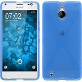 Silikon Hülle Lumia 850 X-Style blau Case