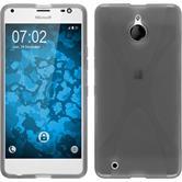 Silikon Hülle Lumia 850 X-Style grau Case