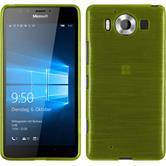 Silikonhülle für Microsoft Lumia 950 brushed pastellgrün