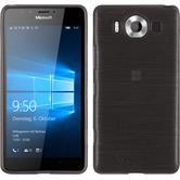 Silikon Hülle Lumia 950 brushed silber