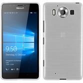 Silikon Hülle Lumia 950 brushed weiß + 2 Schutzfolien