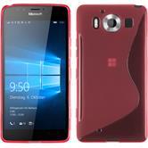 Silikon Hülle Lumia 950 S-Style pink