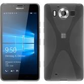 Silikon Hülle Lumia 950 X-Style clear + 2 Schutzfolien