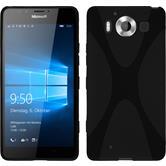 Silikon Hülle Lumia 950 X-Style schwarz