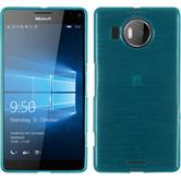 Silikon Hülle Lumia 950 XL brushed blau