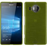 Silikon Hülle Lumia 950 XL brushed pastellgrün + 2 Schutzfolien