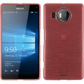 Silikon Hülle Lumia 950 XL brushed rosa + 2 Schutzfolien