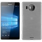 Silikon Hülle Lumia 950 XL brushed weiß + 2 Schutzfolien