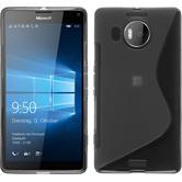 Silikon Hülle Lumia 950 XL S-Style grau