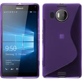 Silikon Hülle Lumia 950 XL S-Style lila