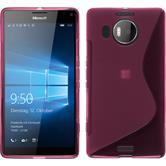 Silikon Hülle Lumia 950 XL S-Style pink