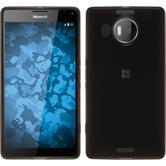 Silikon Hülle Lumia 950 XL transparent schwarz + 2 Schutzfolien