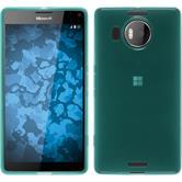 Silikon Hülle Lumia 950 XL transparent türkis + 2 Schutzfolien