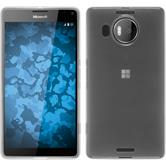 Silikon Hülle Lumia 950 XL transparent weiß + 2 Schutzfolien