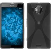 Silikon Hülle Lumia 950 XL X-Style grau + 2 Schutzfolien