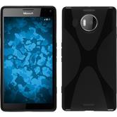 Silikon Hülle Lumia 950 XL X-Style schwarz