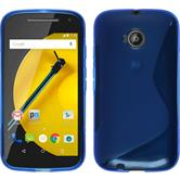 Silicone Case for Motorola Moto E 2015 2. Generation S-Style blue