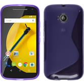 Silicone Case for Motorola Moto E 2015 2. Generation S-Style purple