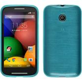 Silicone Case for Motorola Moto E brushed blue