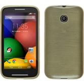 Silicone Case for Motorola Moto E brushed gold