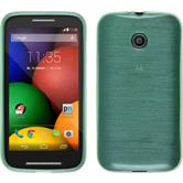 Silicone Case for Motorola Moto E brushed green
