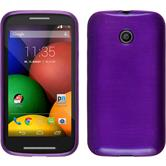 Silicone Case for Motorola Moto E brushed purple