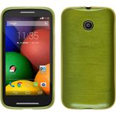 Silicone Case for Motorola Moto E brushed pastel green