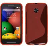 Silikon Hülle Moto E S-Style rot + 2 Schutzfolien