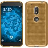 Silikon Hülle Moto G4 Play Iced gold + 2 Schutzfolien