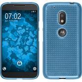 Silikon Hülle Moto G4 Play Iced hellblau + 2 Schutzfolien