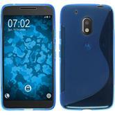 Silikon Hülle Moto G4 Play S-Style blau