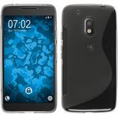 Silikonhülle für Motorola Moto G4 Play S-Style grau