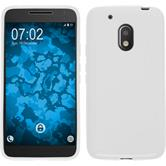 Silikon Hülle Moto G4 Play S-Style weiß + 2 Schutzfolien
