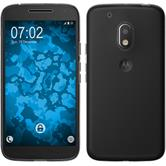 Silikon Hülle Moto G4 Play transparent Crystal Clear + 2 Schutzfolien