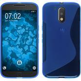 Silikon Hülle Moto G4 Plus S-Style blau