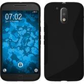 Silikonhülle für Motorola Moto G4 Plus S-Style schwarz