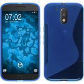 Silikon Hülle Moto G4 S-Style blau