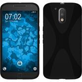 Silikonhülle für Motorola Moto G4 X-Style schwarz