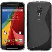 Silikonhülle für Motorola Moto G 2014 2. Generation S-Style grau